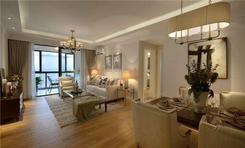 现代简约风格118平米2房2厅房子装饰效果图