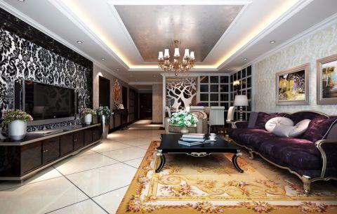 客厅吊顶新古典风格装潢设计图片