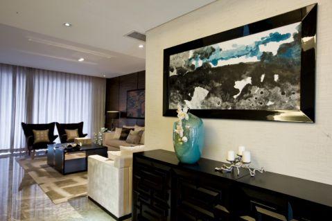 客厅窗帘新中式风格装饰效果图