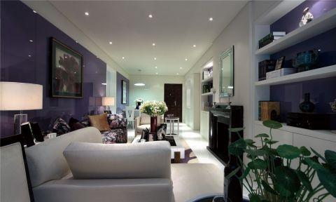 现代简约风格82平米两房两厅新房装修效果图