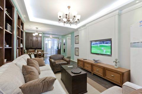 现代简约风格风格90平米三室两厅室内装修效果图