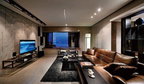 现代简约风格118平米三房两厅新房装修效果图