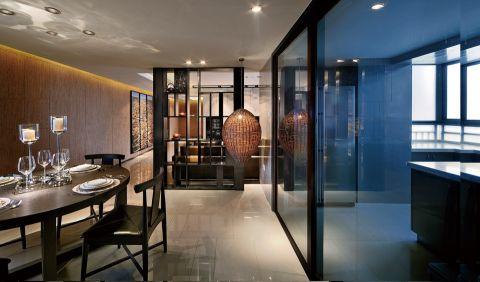 餐厅推拉门现代简约风格效果图