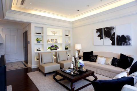 简欧风格88平米两房两厅新房装修效果图