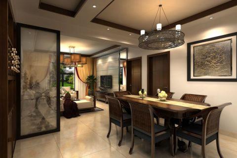 餐厅隔断中式风格装修设计图片