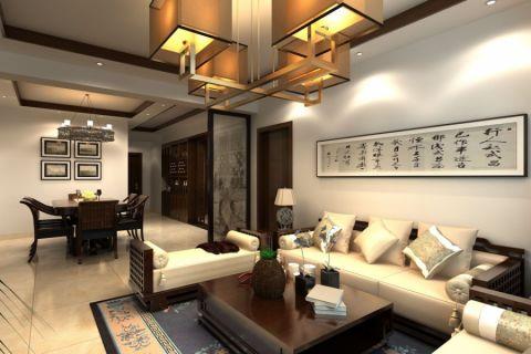 客厅背景墙中式风格效果图