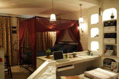 田园风格平米公寓室内装修效果图