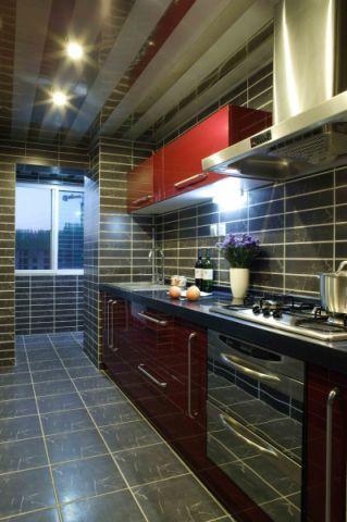 厨房背景墙东南亚风格装潢图片