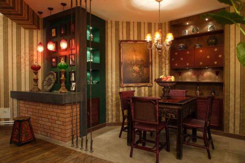 餐厅吊顶东南亚风格装潢设计图片