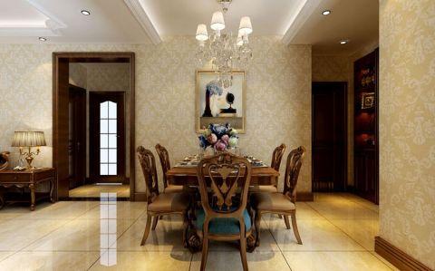 餐厅灯具简欧风格装修图片