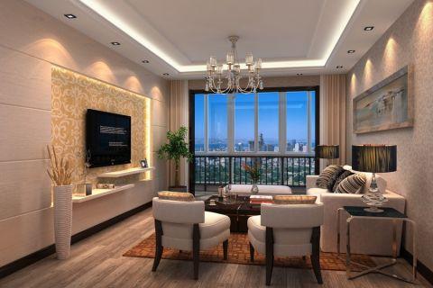 现代风格120平米大户型室内装修效果图