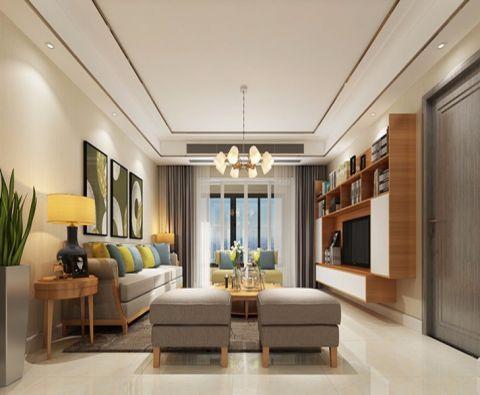 现代风格134平米三室两厅室内装修效果图