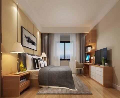 卧室窗帘现代风格装饰设计图片