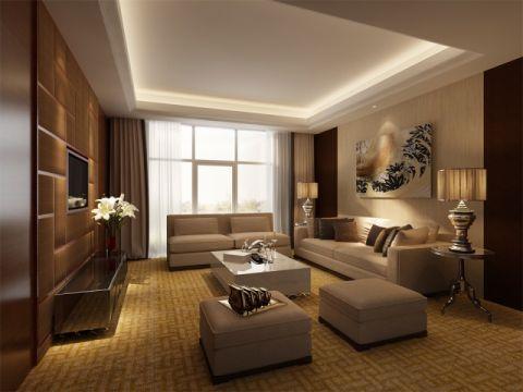 简欧风格88平米小户型室内装修效果图