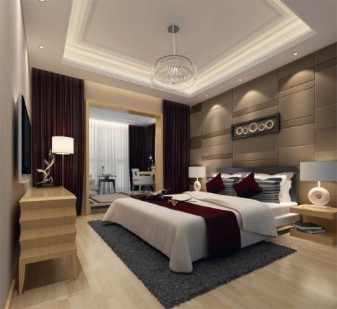 卧室窗帘现代风格效果图