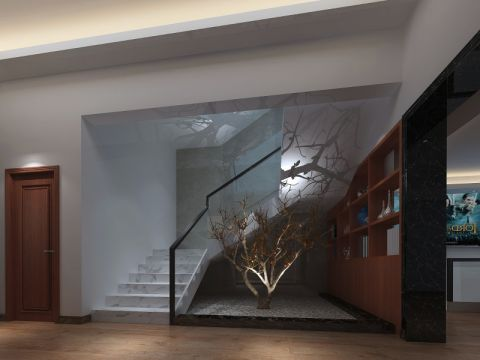 客厅楼梯现代风格效果图