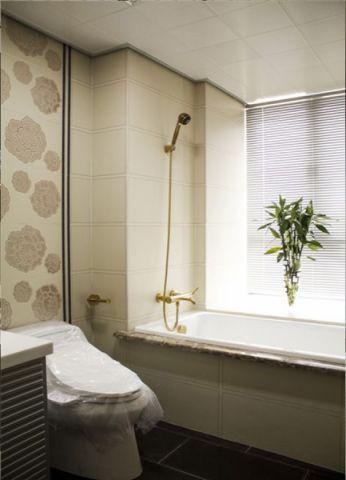 卫生间窗帘现代风格装饰图片