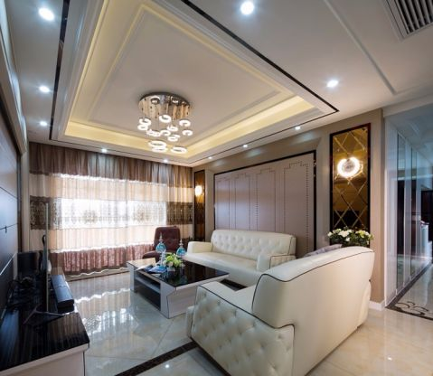 现代风格140平米四房两厅新房装修效果图