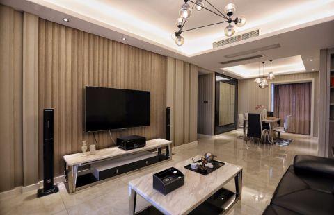 现代简约风格137平米三房两厅新房装修效果图