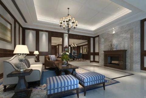 美式风格320平米别墅房子装饰效果图