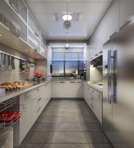 厨房窗帘混搭风格装修图片