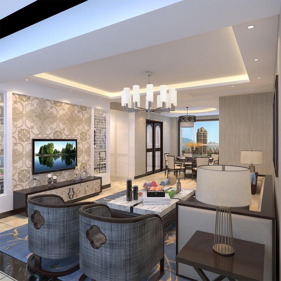 3室2卫2厅120平米新中式风格