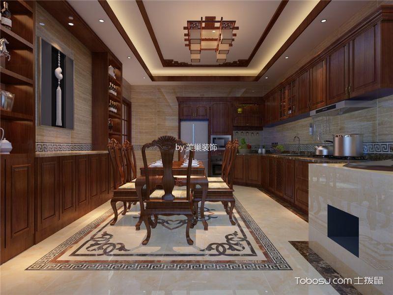 厨房 橱柜_中式风格248平米别墅房子装饰效果图
