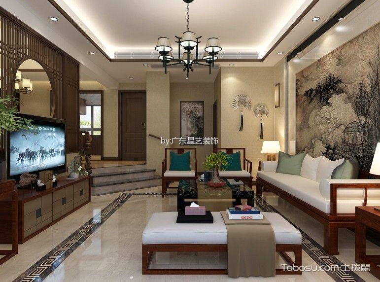新中式风格250平米复式新房装修效果图