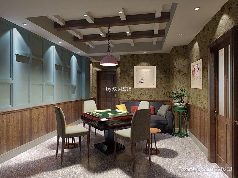新中式风格茶餐厅棋牌室装潢效果图