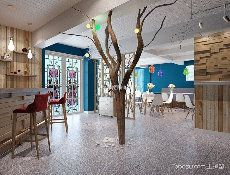 新中式风格茶餐厅大厅装潢图片欣赏