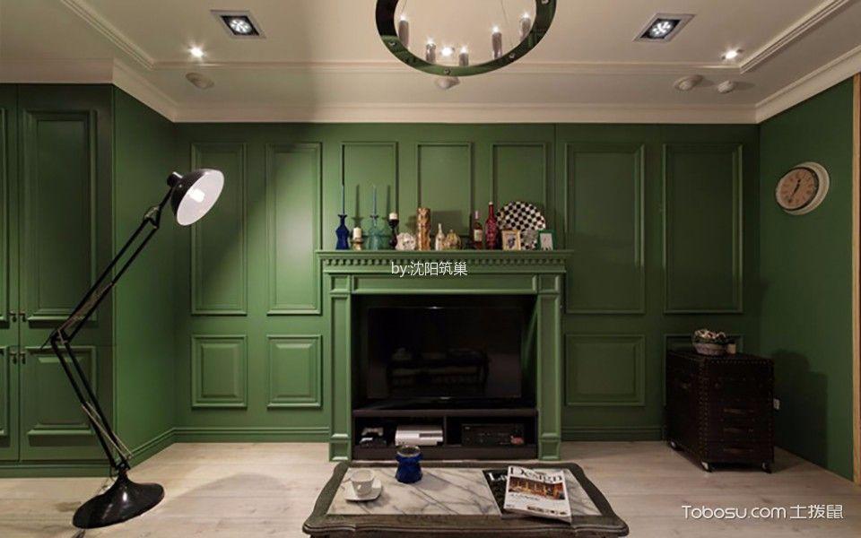 客厅白色地板砖美式风格装修效果图