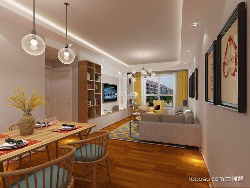 餐厅黄色走廊现代风格装潢设计图片