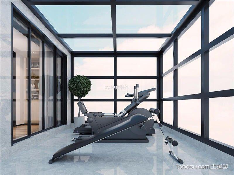 阳台黑色推拉门现代风格装潢图片