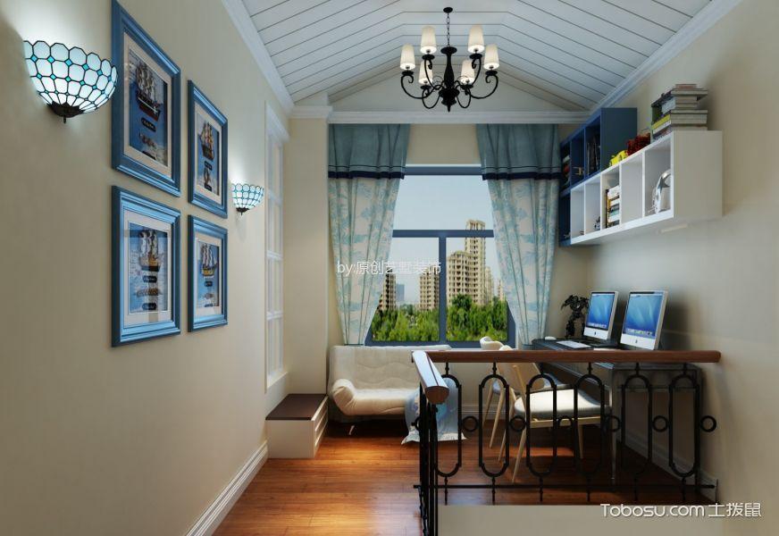 书房 吊顶_地中海风格159平米复式室内装修效果图