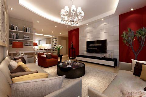 现代简约风格100平米2房2厅房子装饰效果图