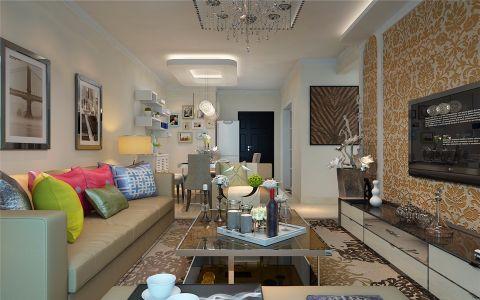 简约风格90平米2房2厅房子装饰效果图