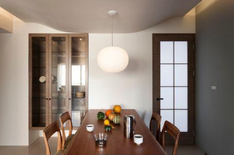 餐厅推拉门现代简约风格装修设计图片