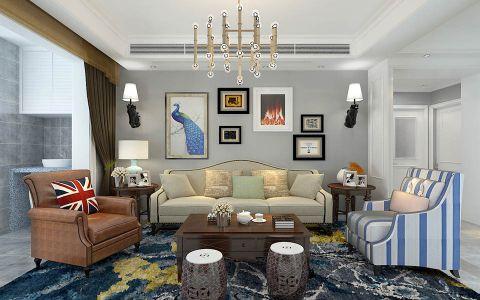 客厅照片墙简约风格装饰图片