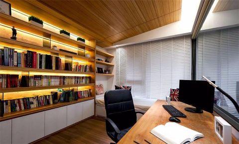 书房窗帘北欧风格装饰设计图片
