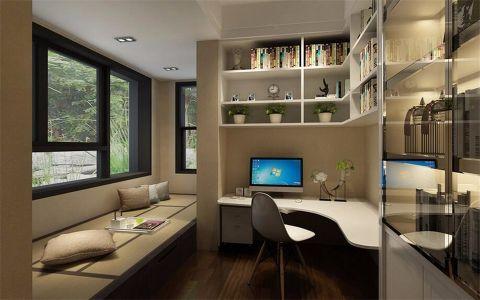 书房榻榻米现代简约风格效果图