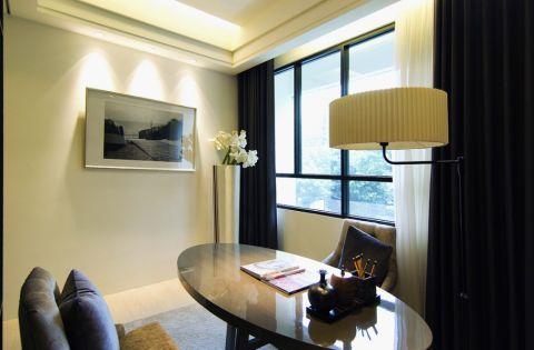 书房窗帘现代简约风格装修效果图