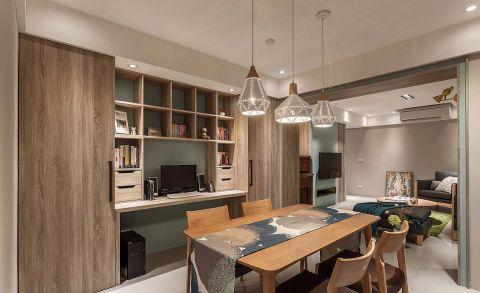 餐厅餐桌北欧风格装潢效果图