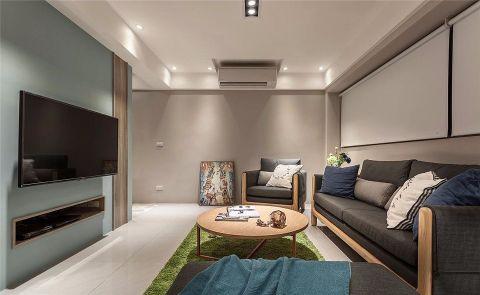北欧风格110平米两室两厅室内装修效果图