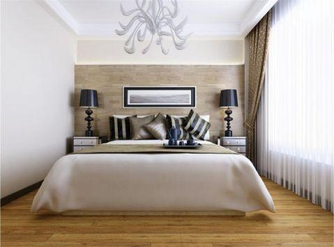卧室背景墙简中风格装潢效果图