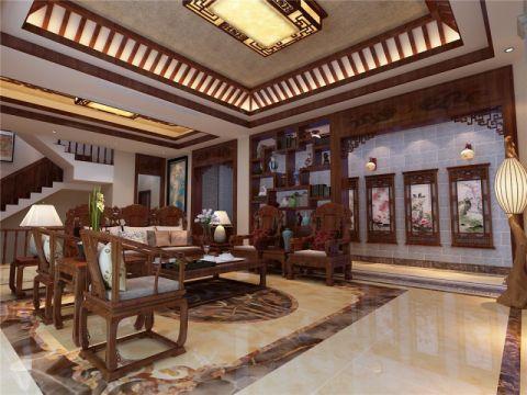 中式风格248平米别墅房子装饰效果图
