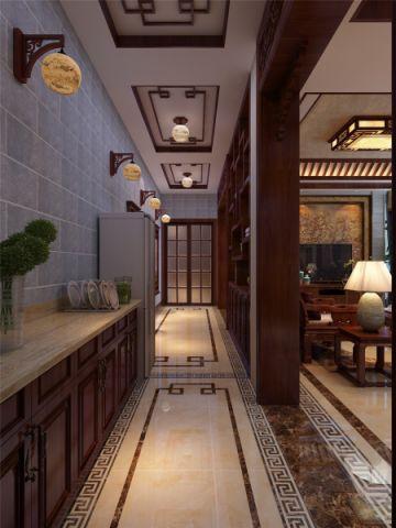玄关走廊中式风格装饰图片