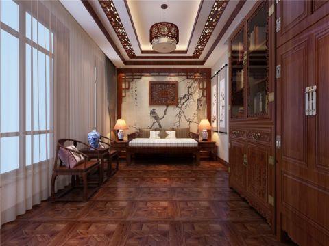 书房背景墙中式风格效果图