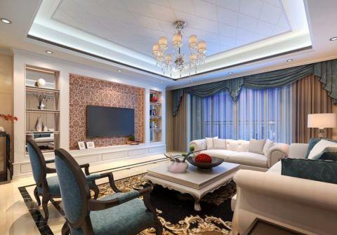 客厅茶几现代欧式风格装修设计图片