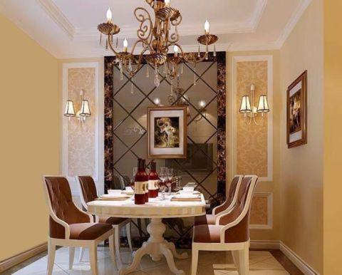 餐厅背景墙现代欧式风格装饰设计图片