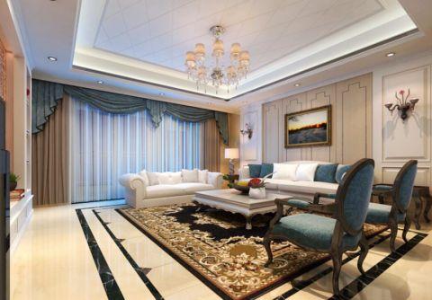 现代欧式风格166平米3房2厅房子装饰效果图